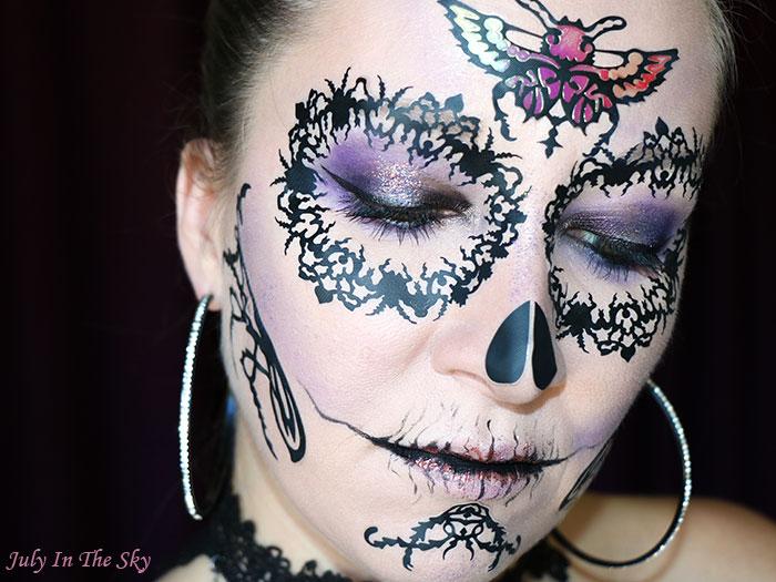 blog beauté tutoriel make-up Halloween plum skull Face Lace