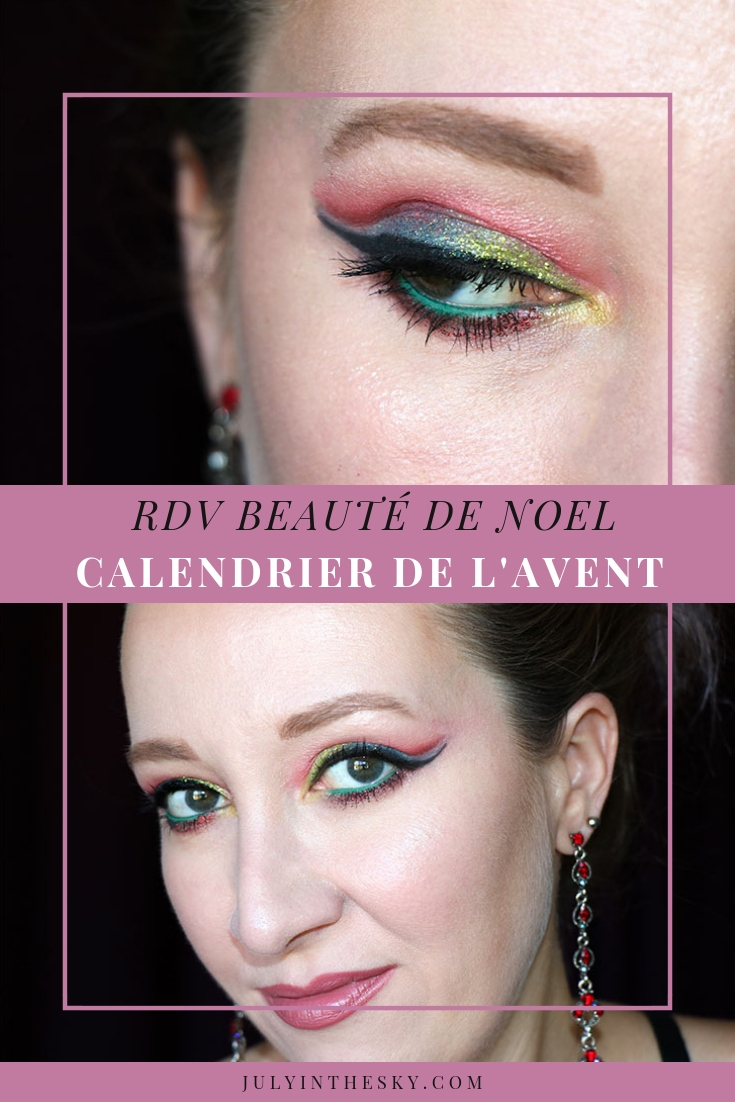 blog beauté RDV Beauté Calendrier de l'avent Nöel traditionnel tutoriel maquillage