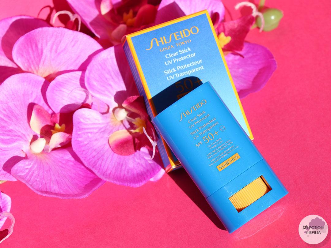 Bien protégée avec le Stick Protecteur UV Transparent de Shiseido
