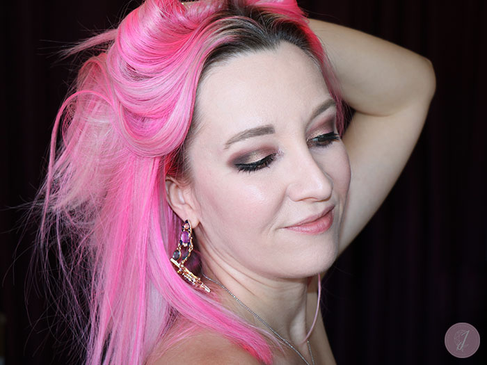 blog beauté unicorn hair rose néon gris tigi pink grey
