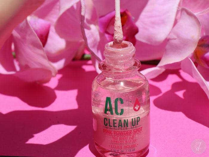 blog beauté kbeauty AC Clean Up Pink Powder Spot Etude House