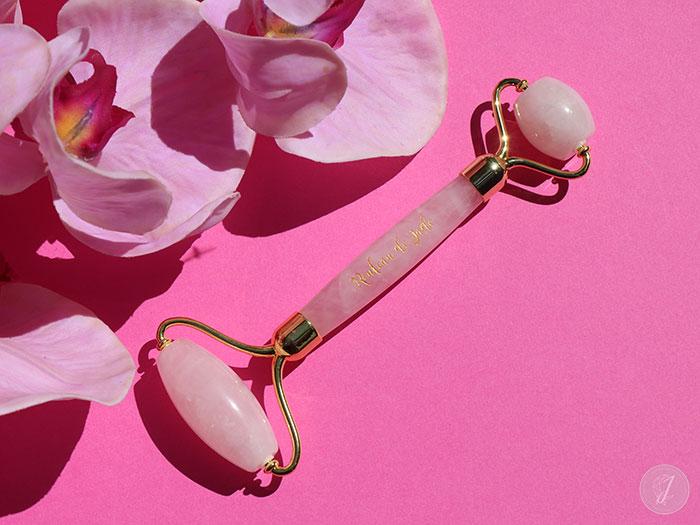 blog beauté Rouleau de Jade quartz rose