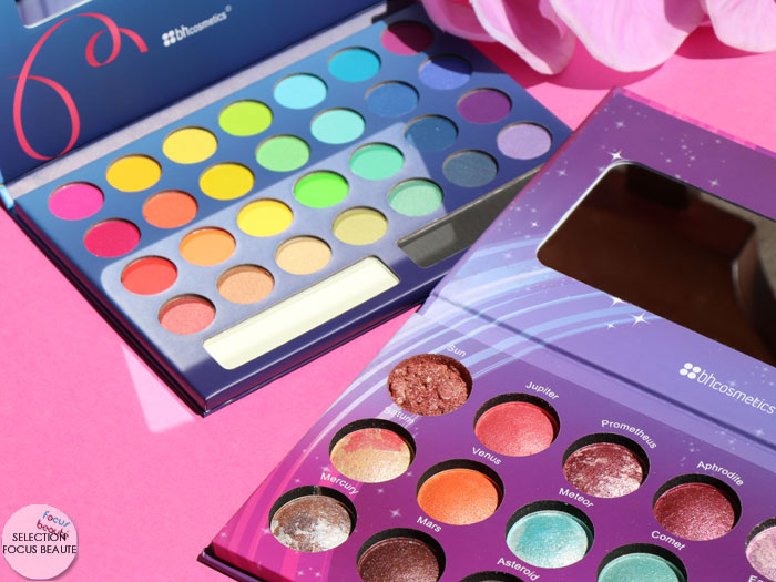 BH Cosmetics : les palettes Galaxy Chic et Take Me To Brazil