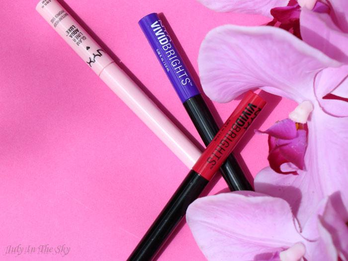 blog beauté haul nyx vivid brights liner glam liner aqua luxe