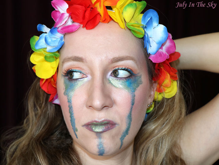 blog beauté monday shadow challenge dramatic sunny turquoise