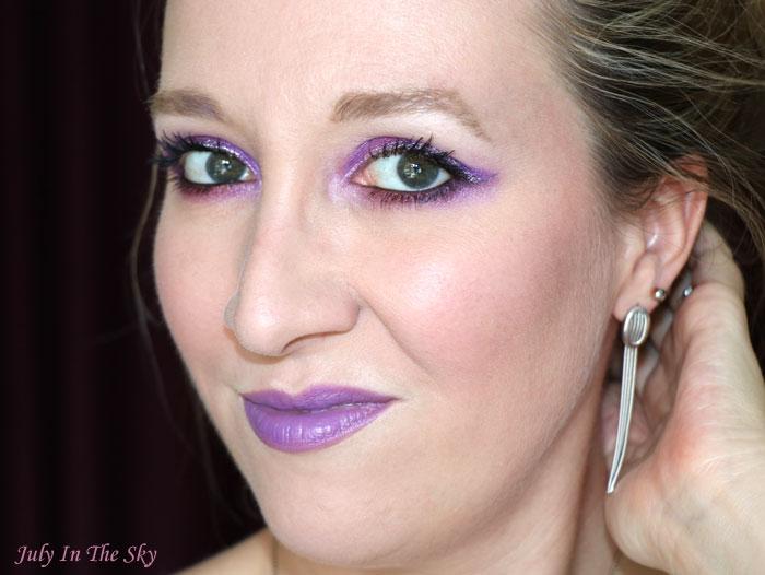 blog beauté monday shadow challenge twitch purple urban decay vice lipstick