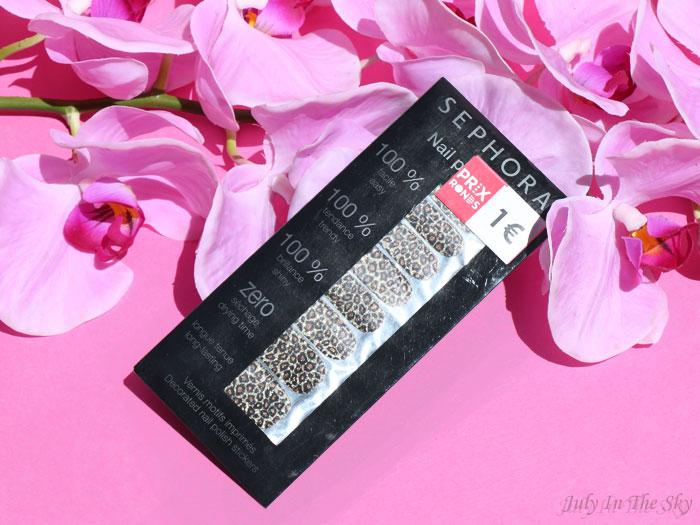 blog beauté haul nail patch léopard sephora
