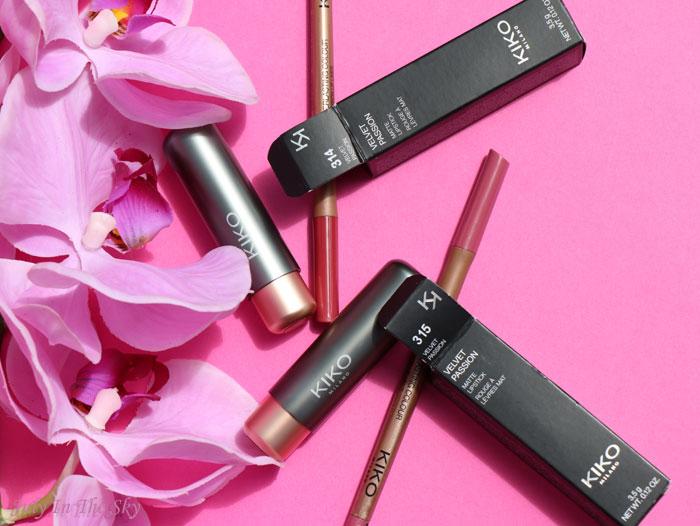 blog beauté velvet passion matte lipstick everlasting colour precision lip liner kiko