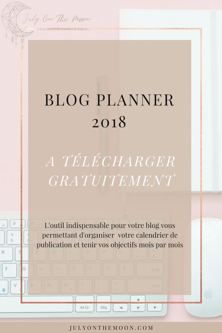 blog planner 2018 à télécharger gratuitement blogging photographie webdesign
