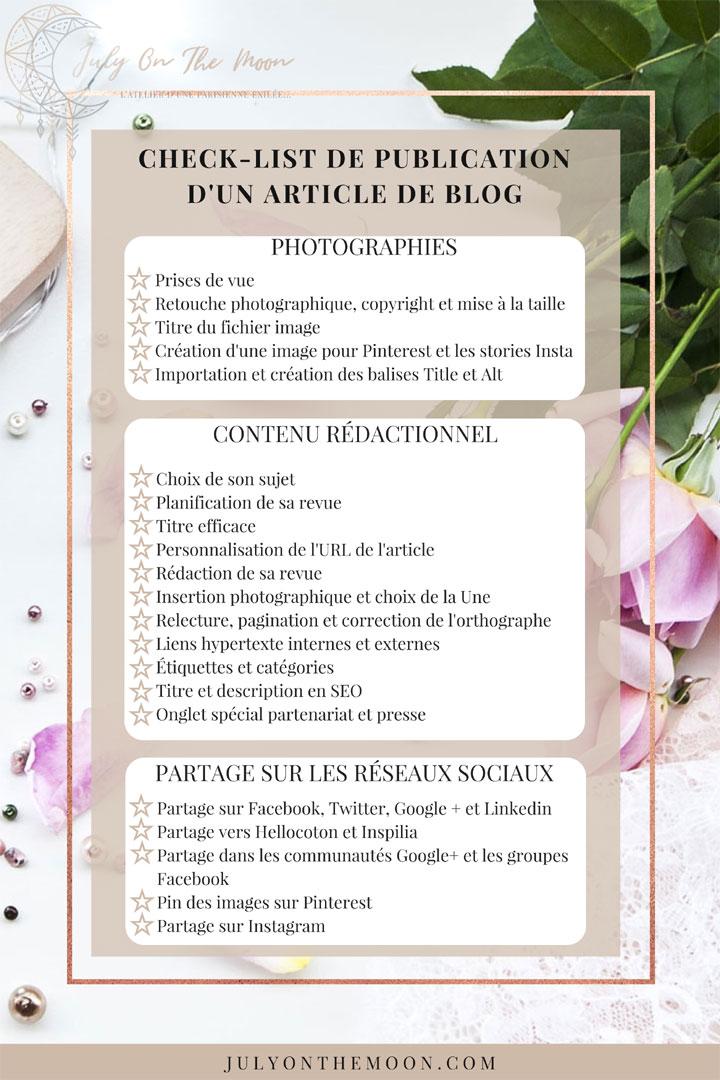 blog photographie étapes clés publication article blog checklist