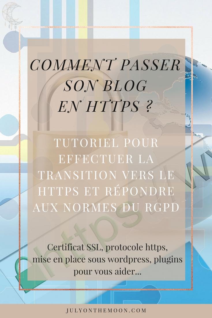 blog tutoriel passer blog https RGPD