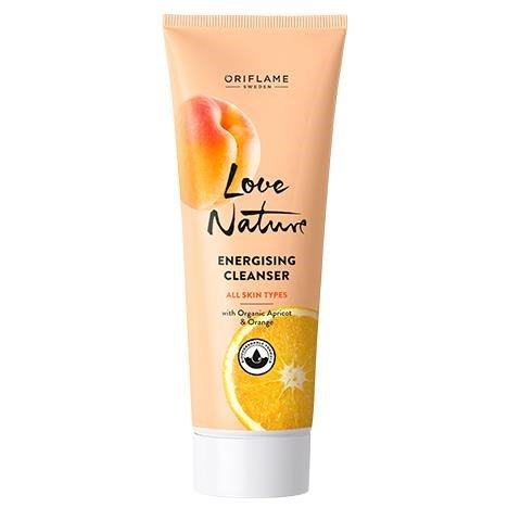 LOVE NATURE - ENERGISING CLEANSER WITH ORGANIC APRICOT & ORANGE