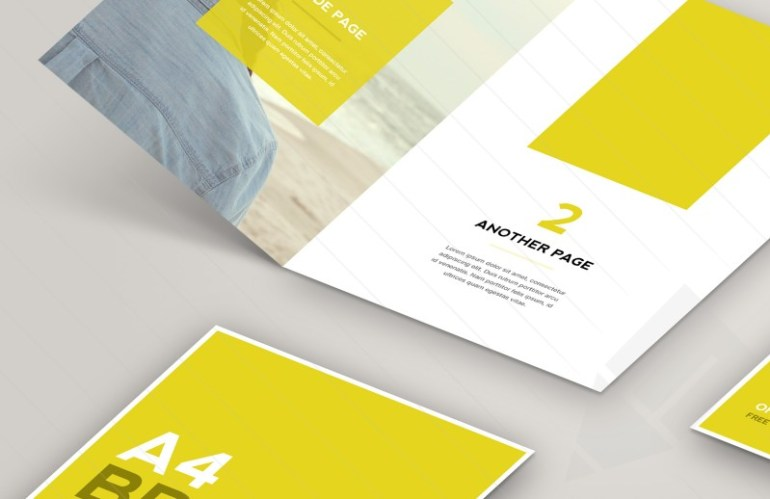 800x518 Open Brochure Mockup Preview 2 - Mock Up en Photoshop para crear un Brochure A4