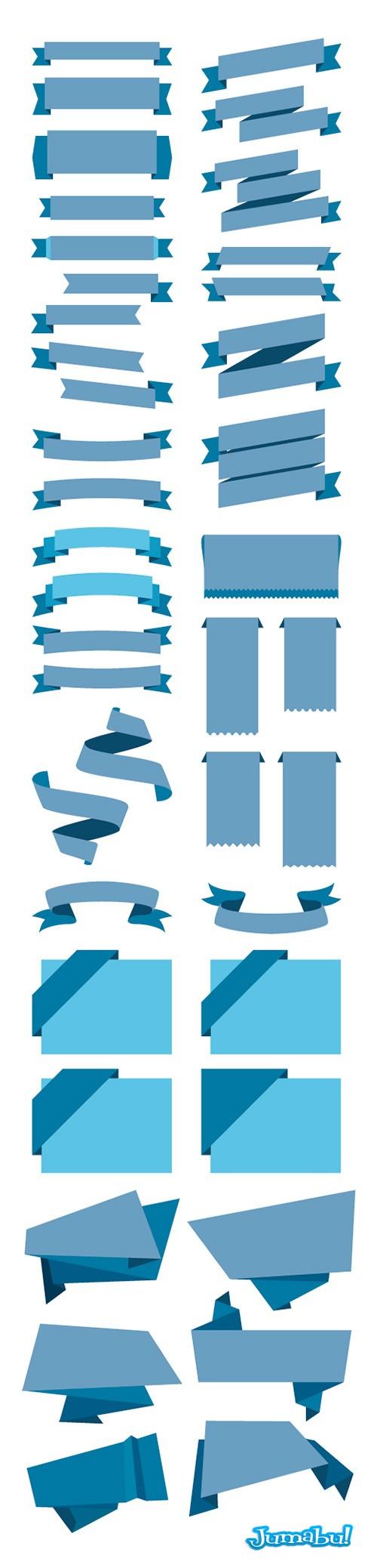 Ribbons-vectorizados-cintas-vectoriales