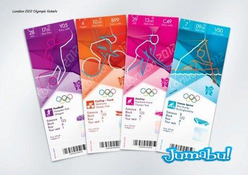 Ticket designs 3 500x353 - Tickets Olímpicos de Londres