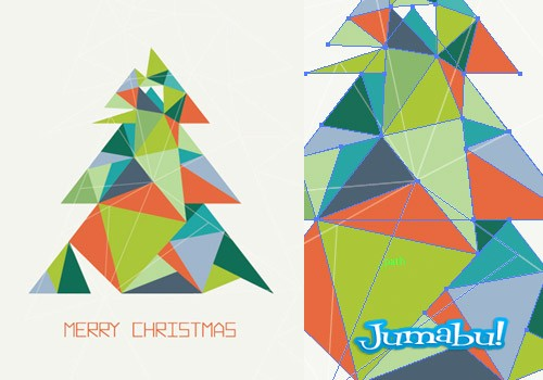 arbol-navidad-vectorizado-triangular