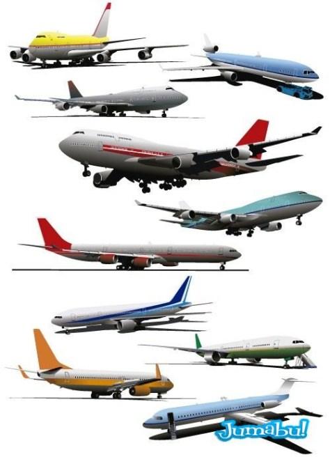 aviones-eps-vectorizados