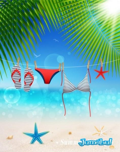 bikini-vectores-playa-verano