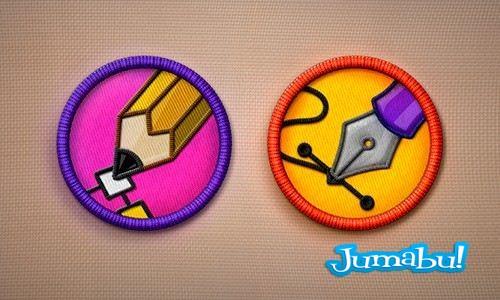 bordados iconos escolares - Iconos Bordados en PSD