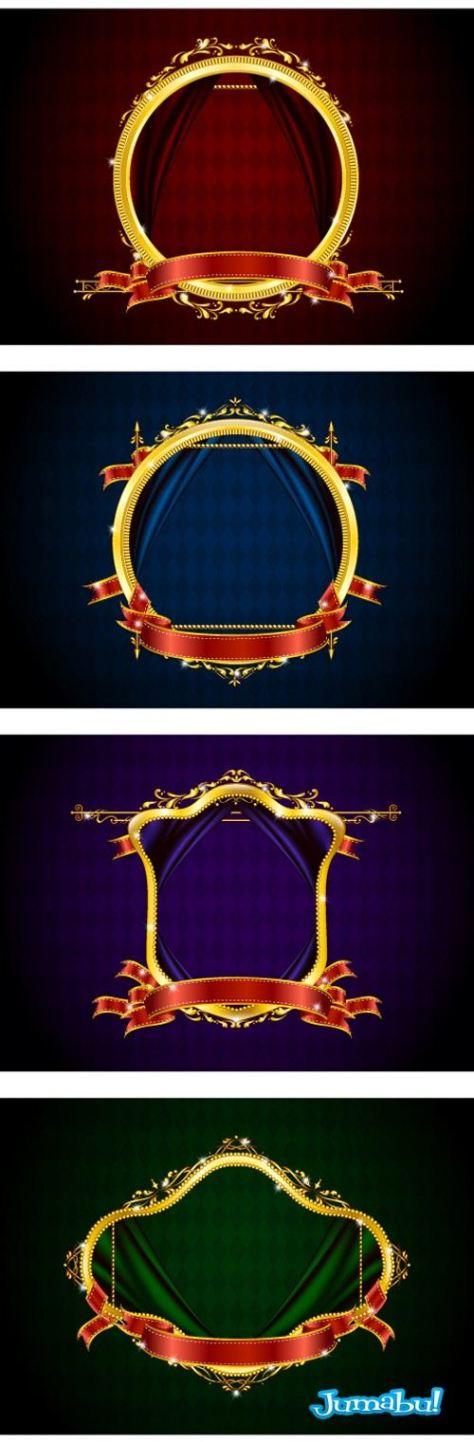 vectoriales-bordes-espejos-dorados