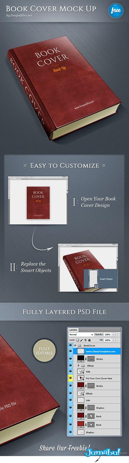 diseno tapa libros psd photoshop - Mock Up Tapa de Libros en PSD