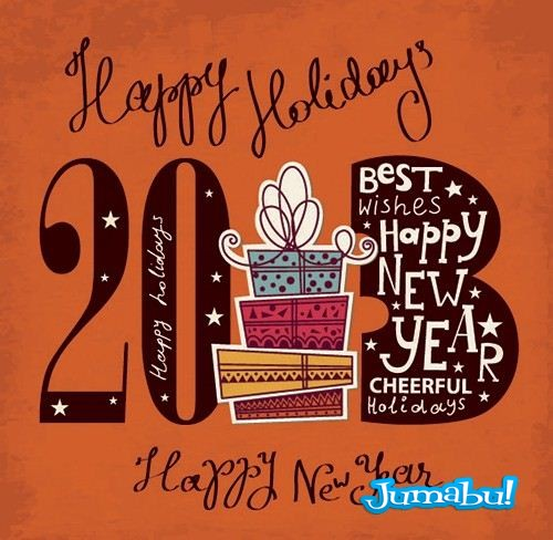 feliz ano nuevo 2013 vectores - 2013 Retro en Vectores