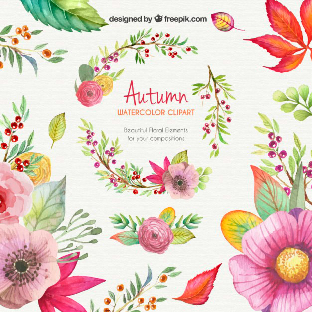 Dibujos De Flores Coloridas Con Acuarelas Jumabu