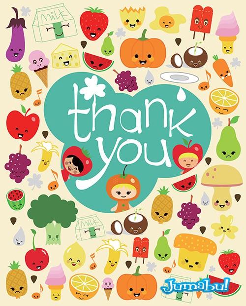 frutas verduras dibujos vectorizados - Vectores de Frutas y Verduras Dibujados con Estilo Infantil