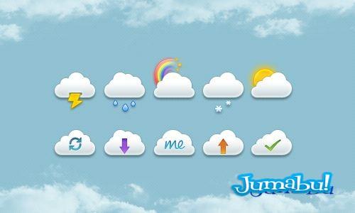 iconos clima psd - Iconos de Clima PSD