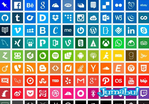 iconos-flat-social-media-planos
