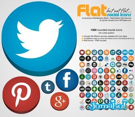 iconos-planos-facebook-twitter-pinterest