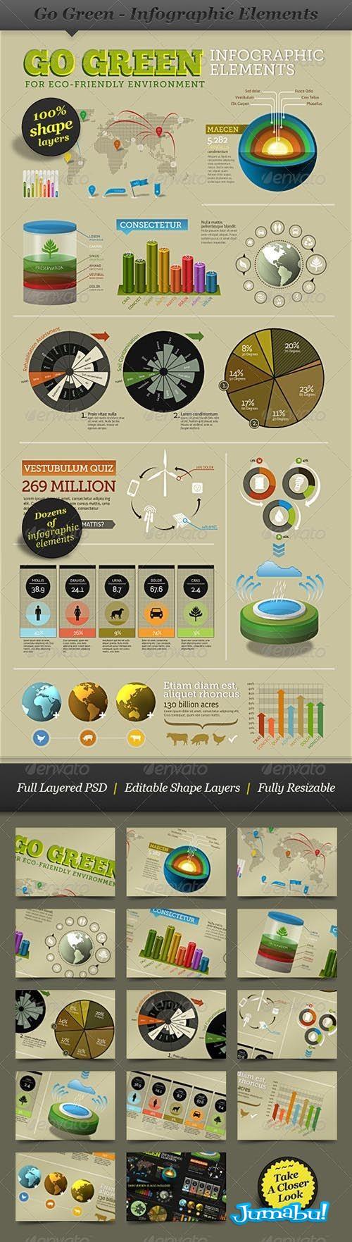 infografia ecologica verde - Infografía Verde - Ecológica