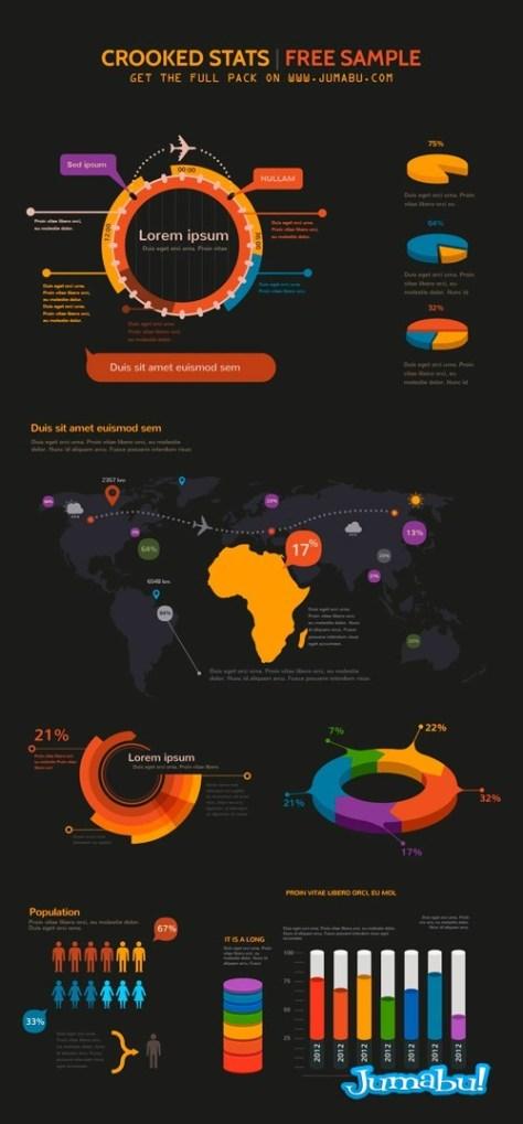 infografia-vectores-negra-naranja