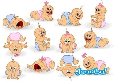 juguetones-bebes-vectoriales