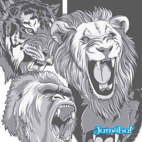 tigres-vectorizado-mono-gorila-pantera-vectoriales