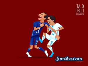 mordida suarez brasil2014 - Dibujos del Mundial de Fútbol Brasil 2014