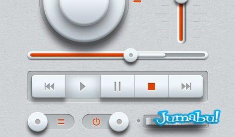 music-ui-elements-psd