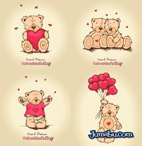 osos-corazones-vectorizados-enamorados