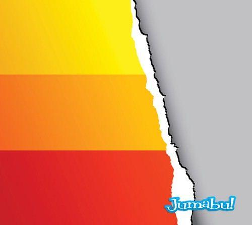 papel-colores-arrancado