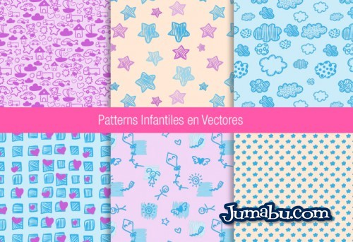 patterns-vectores-bebes