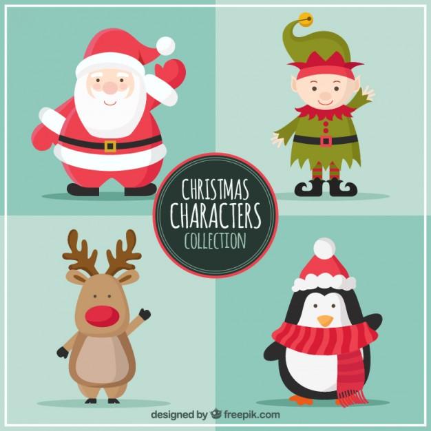 personajes navidenos vectorizados - Personajes de Navidad en Vectores