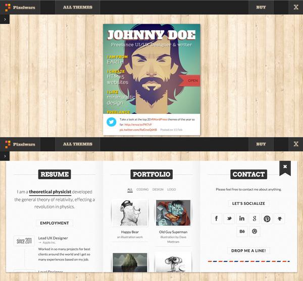 portfolio personal online - Paginas webs para curriculum on line