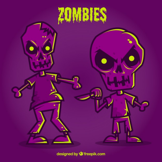 purple halloween zombies 23 2147521154 - Zombies en Vectores para Halloween 2015