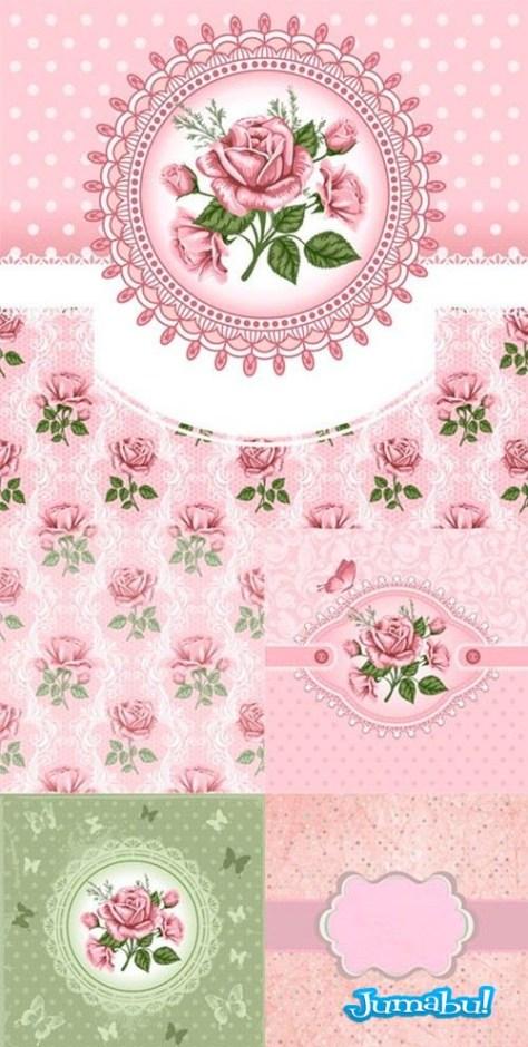 flores-rosadas-vector