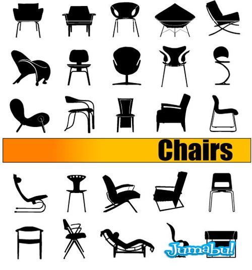 sillas-vectorizadas-asientos-banquetas