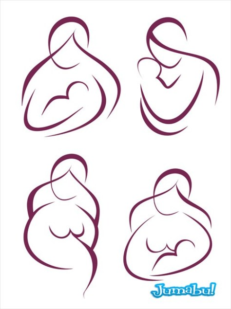 siluetas-maternales-vectoriales