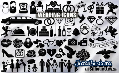 simbolos-casamientos-vectorizados