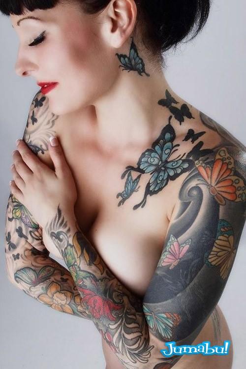 tatuajes mujer brazos dibujados colores - Modelos de Tatuajes en Mujeres y Hombres