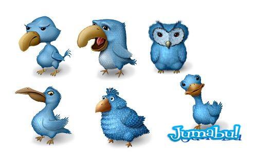 twitter feo iconos - Pájaros de Twitter Bien Feos