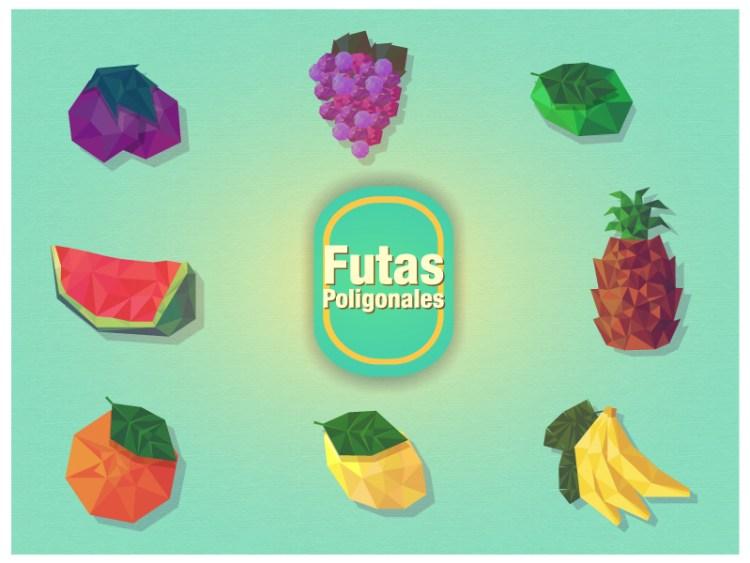 vectores-frutas-poligonos